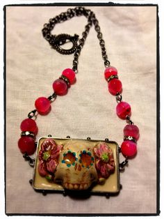 Lexi Grenzer: Handmade Holiday Blog Hop Project One: Day of the Dead Pendant
