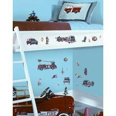 Room Mates Fire Brigade Peel and Stick Wall Sticker-