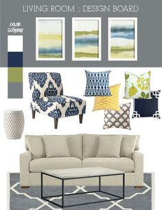 Family room colors to add to my tan couch and tan walls.