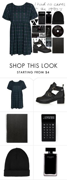 """Grunge"" by mariana4 ❤ liked on Polyvore featuring Boohoo, Topshop, Muji, LEXON, Narciso Rodriguez and Leica"