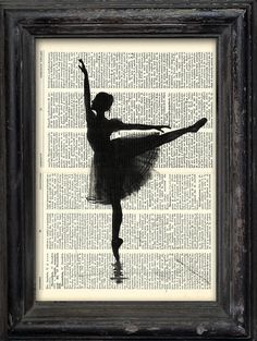 Print Art Ink canvas poster Drawing best gift Ballet Art Painting Illustration…