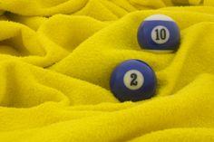 Blauw op geel