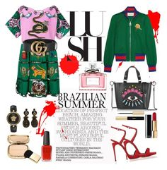 Gucci 💚 by myllenamorenaguerra on Polyvore featuring polyvore, fashion, style, Gucci, Giuseppe Zanotti, Kenzo, Versace, Dolce&Gabbana, Chanel, Yves Saint Laurent, Christian Dior, Kester Black and clothing