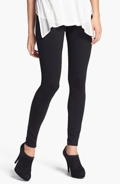 Free shipping and returns on Hue Ponte Knit Leggings at Nordstrom.com. A dense ponte-knit fabric lends versatility to classic leggings finished with two functional back patch pockets.