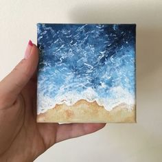 Little beach painting