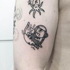 Kawaii tattoo from artist Hugo Tattoer