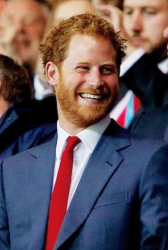 Prince Harry attends the 2015 Rugby World Cup Pool D match between France and Canada | October 1, 2015