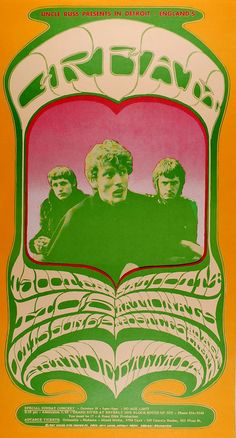 Cream Poster Detroit 1967. You had to take acid before you could read it.