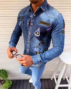 Trendová pánska rifľová košeľa s dlhým rukávom z najnovšej kolekcie len za 29,90 €! Je príjemná na nosenie. Exkluzívna kolekcia pánskych košieľ, skladom viac ako 30 modelov! Expresné dodanie do 24 hod! Bezplatné vrátenie do 30 dní! Limitované množstvo - kúpiš jedine u nás! #fashionformen  #dnesnosim #dnesnakupujem #fashionformensk #menstreetstyle #menstyle #slovakboy #shirt #kosela Denim Button Up, Button Up Shirts, Formal Men Outfit, Jeans, Instagram Posts, Jackets, Istanbul, Outfits, Tops