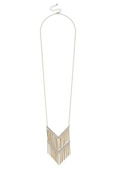 necklace with goldtone and silvertone dangling bars (original price, $16) available at #Maurices