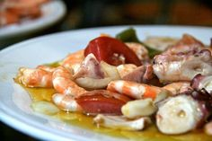 Spanish Seafood Salad with Pickles and Onions (Salpicon de Marisco)