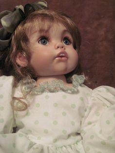 """porcelain doll 2o"""" little girl"""