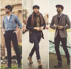 20's inspired men's fashion. Lacking all those sweaters, but still a good modern twist. A bit too butch.
