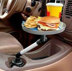 Clever use of a cup holder in your car