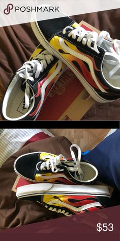 Van shoes Fire vans limited HMU quick I ll give u a discount We could do  exchange for exchange Comfortable 🔥🤩 vans Shoes Sneakers 4365f5f4306