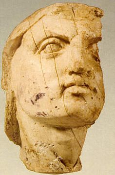 Face of Alexander the Great - Found in the tomb of his father Philip II of Macedonia, Greece