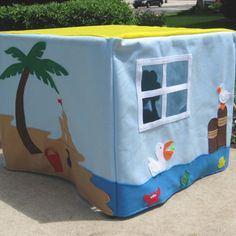 At the Beach Card Table Playhouse Personalized by missprettypretty, $195.00