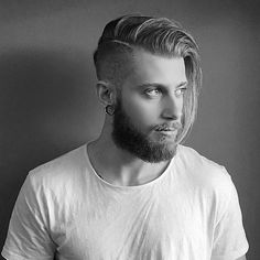 Male Undercut Hairstyles For Long Hair Comb Over