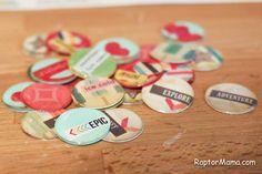 DIY flair badges RaptorMama