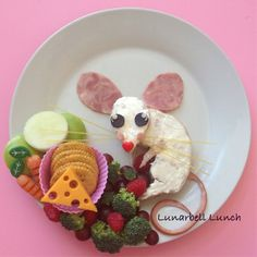 Cute Mouse Fun Food Lunch Sarah Gonzalez @lunarbell_lunch