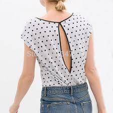 Resultado de imagen para blusas de chifon con espalda abierta
