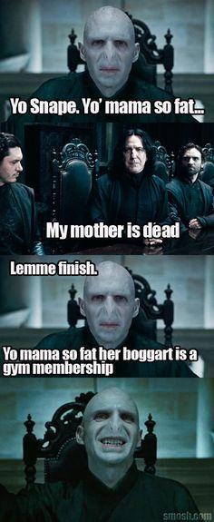 Voldemort attempts a yo mama joke.