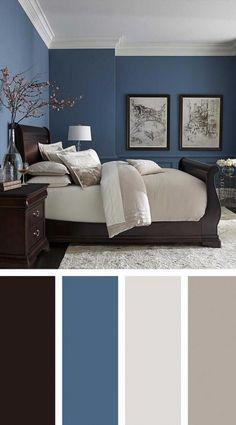 Modern Master Bedroom Paint Color Best Of 36 Modern Blue Master Bedroom Ideas Masterbedroom Simple Bedroom, Rustic Bedroom, Best Bedroom Colors, Beautiful Bedroom Colors, Bedroom Orange, Master Bedroom Colors, Bedroom Color Schemes, Blue Master Bedroom, Master Bedroom Design