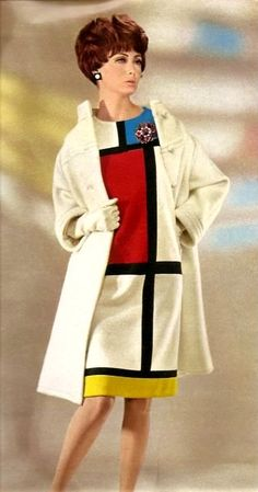 1965 - Mondrian dress by Yves Saint Laurent