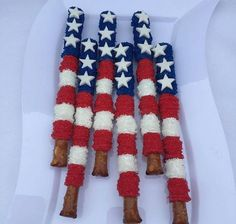 12 Flag Chocolate Covered Patriotic Memorial Day Fourth of July Labor Day Treats Sweets Table