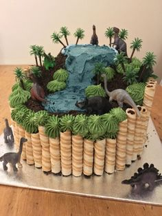 Dinosaur cake dinosaur dinosaur cake make a dinosaur birthday cake Dinasour Birthday, Birthday Cake Kids Boys, Dinosaur Birthday Cakes, 4th Birthday Parties, Dinosaur Dinosaur, Cake Birthday, Dinosaur Cakes For Boys, Dinosaur Cake Easy, Birthday Ideas