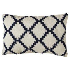 Threshold™ Woven Diamond Patterned Pillow (Blue/White) – Target, $19.99