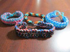 Bracelet Set  Set of 4 Rainbow Loom by MrPeabodysCustomary on Etsy, $9.99