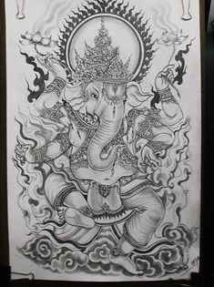 Ganesh elephant art