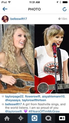"""Congrats Taylor!!! 8 years since """"Tim McGraw came out!!!!!"""