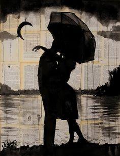 "Saatchi Art Artist Loui Jover; Drawing, ""night tryst"" #art"