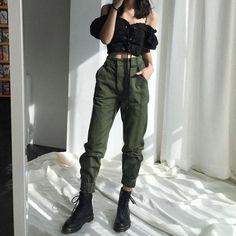 High waist pants loose joggers women army harem camo pants streetwear – rricdress
