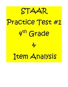 Math Assessment for 4th grade students to practice before the 1st STAAR test is given