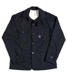 Post O'Alls brings the heat with this Engineers Jacket in Navy Wool.