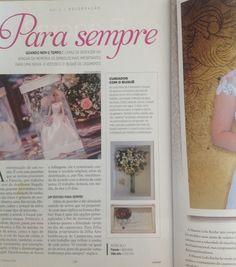 Revista com matéria sobre desidratação e emolduração do buquê da noiva!