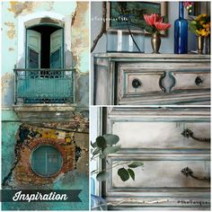The Turquoise Iris ~ Vintage Modern Hand Painted Furniture: When in Doubt, Add…