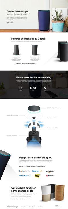 Google OnHub Landing Page Concept
