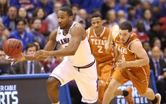 Kansas guard Wayne Selden Jr. (1) comes away with a loose ball during the first half on Saturday, Feb. 28, 2015 at Allen Fieldhouse.