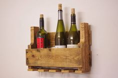 Pallet Wine Rack, Wooden wine rack, gift for dad, wooden anniversary gift, wedding gift, husband gift, father gift, grandfather gift, wine