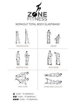 Un workout qui fait travailler tout votre corps en ajoutant de la résistance avec un elastiband !