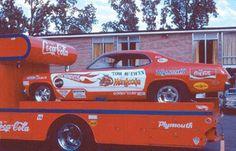 Tom McKewen Mongoose funny car on hauler