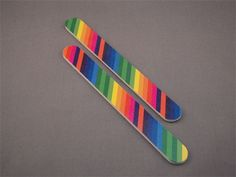 PAIR OF RAINBOW NAIL FILES