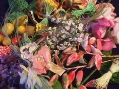 I do love all of my vintage millinery flowers, leaves, stamens and trims, so picking favorites is hard, but I will try.