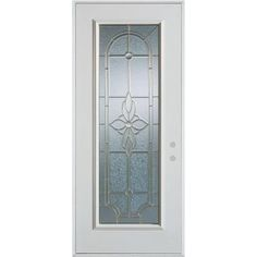 Stanley Doors 36 in. x 80 in. Traditional Patina Full Lite Prefinished White Left-Hand Inswing Steel Prehung Front Door-1300P-P-36-L-P - The Home Depot