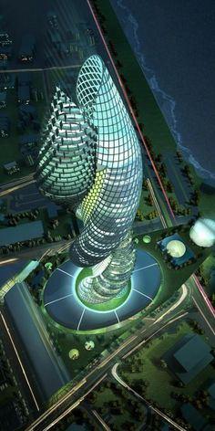 Cobra Towers in Kuwait. There certainly is some interesting skyscraper architecture going on in the Middle East. Unusual Buildings, Interesting Buildings, Amazing Buildings, Modern Buildings, Architecture Unique, Futuristic Architecture, Building Architecture, Futuristic Design, Zaha Hadid