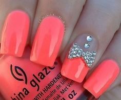 Would just do tips in colour on all nails then the diamonds on one finger